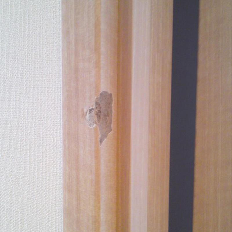 造作枠の割れ修繕