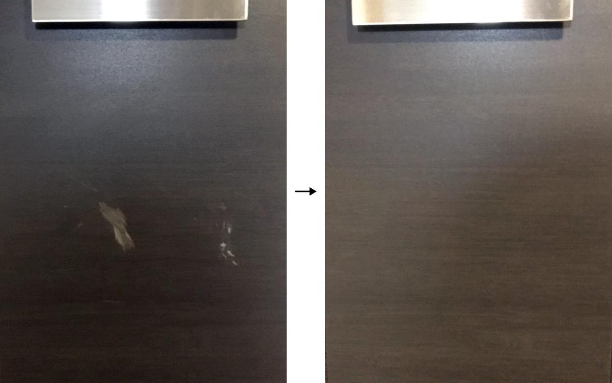 玄関ドアの傷