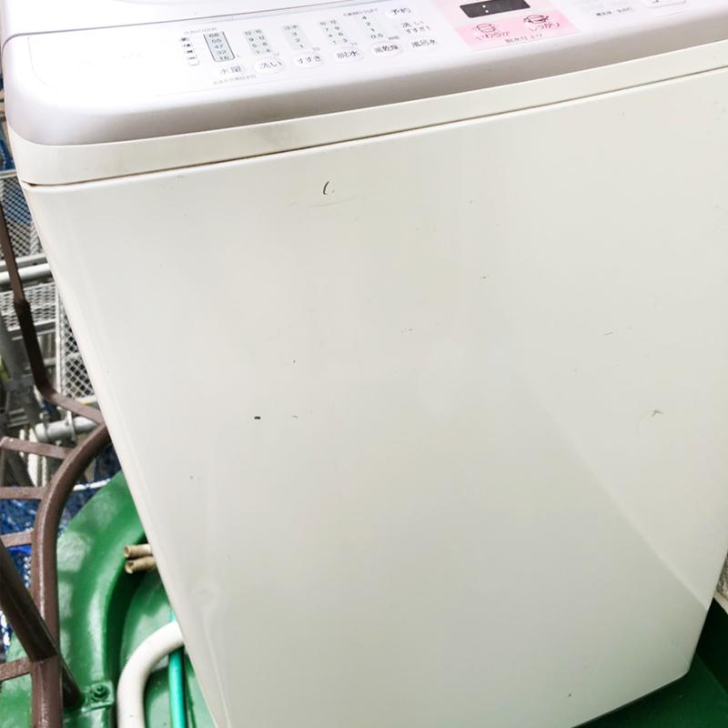 洗濯機へこみ傷の補修