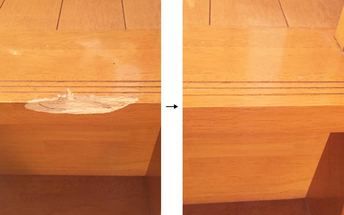 階段の欠け補修事例