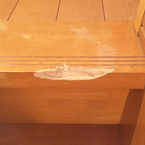 階段の欠け補修