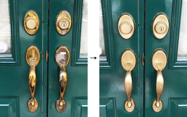 ドア取っ手 塗装 補修
