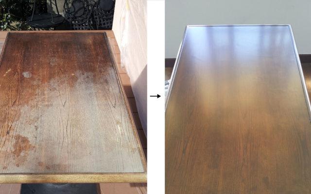 テーブル塗装 補修