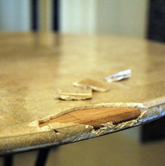 大理石テーブル補修