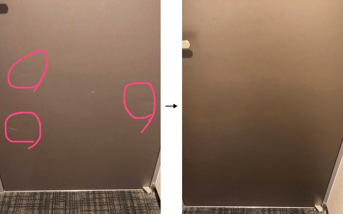 ホテルの客室扉の補修事例