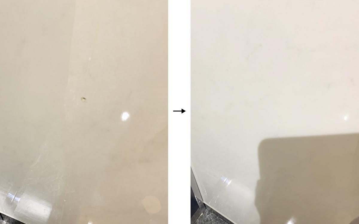 トイレパネルの傷-補修事例