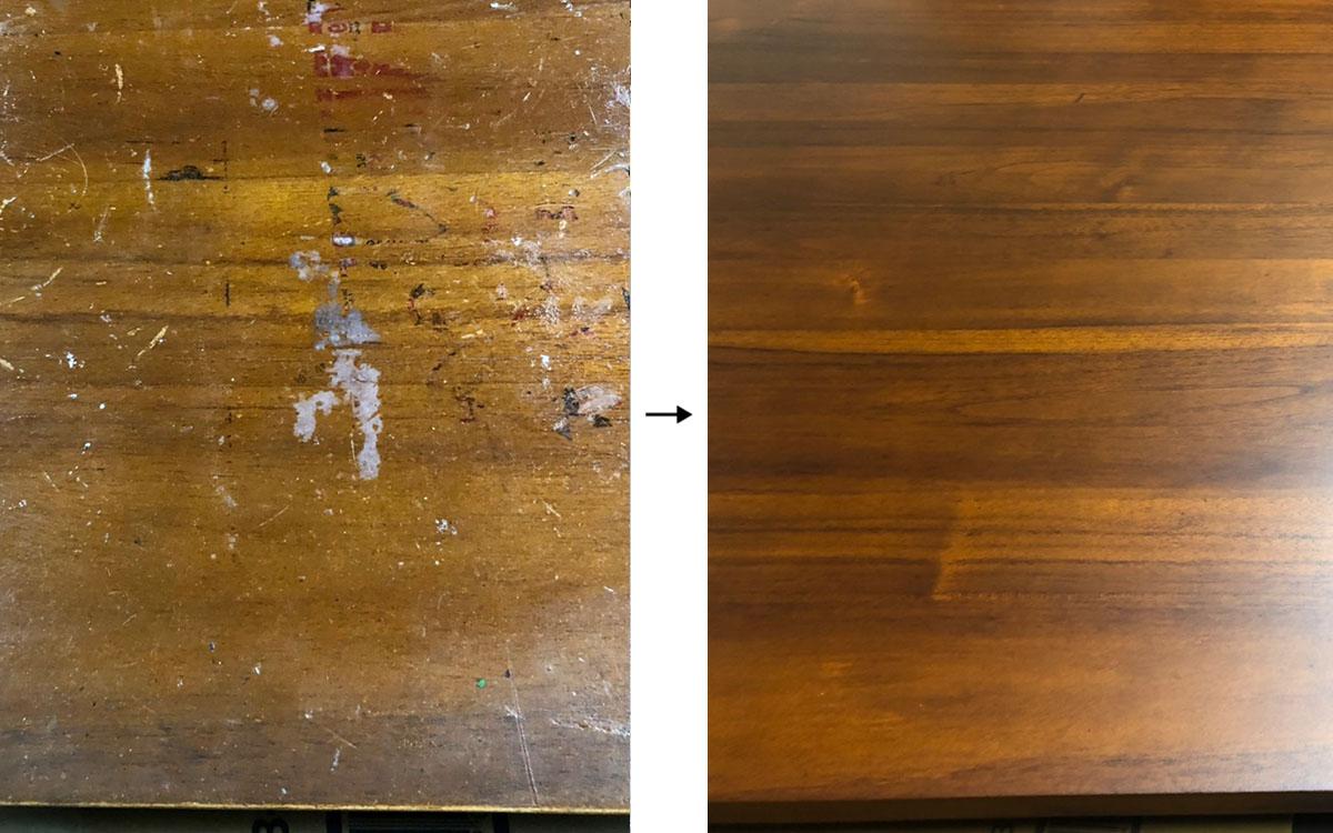 テーブル塗装 ビフォーアフター